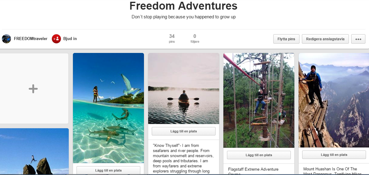 FREEDOMtravel på Pinterest