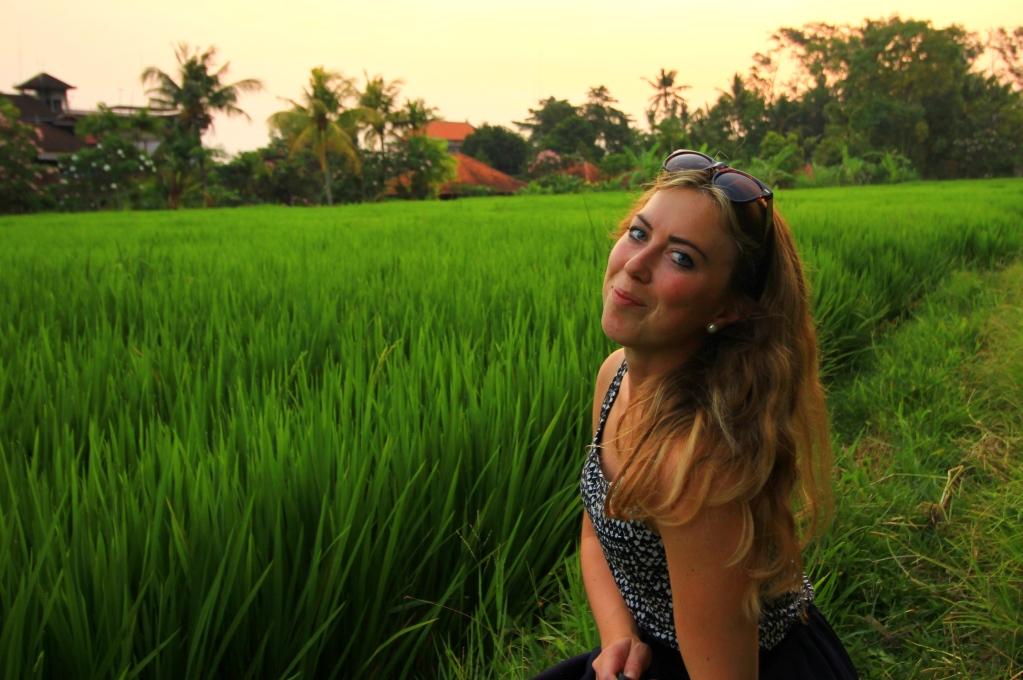 Renate Sandvik på Ubud i Bali
