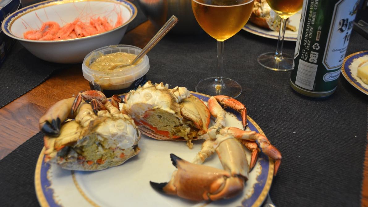 hur äter man krabba
