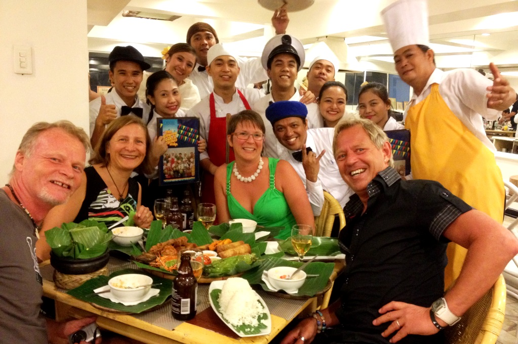 Restaurangen 'Singing cooks and waiters' i Manila