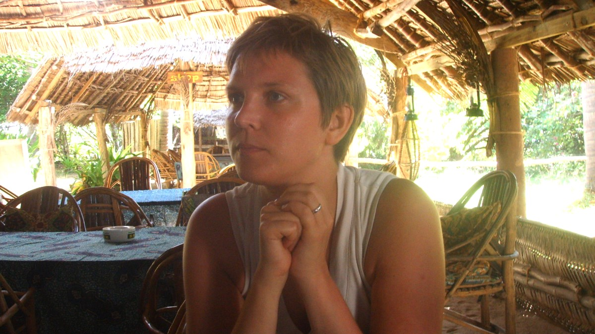 Restaurang i tanga i Tanzania