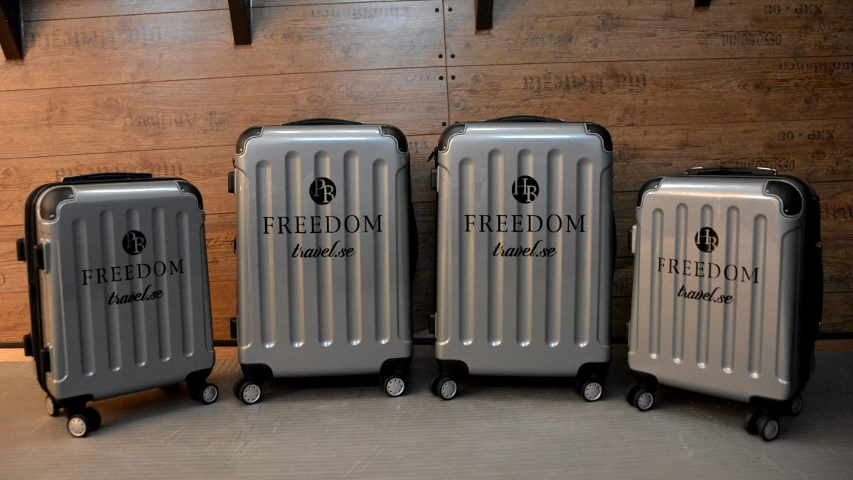 Resväskor med personligt tryck