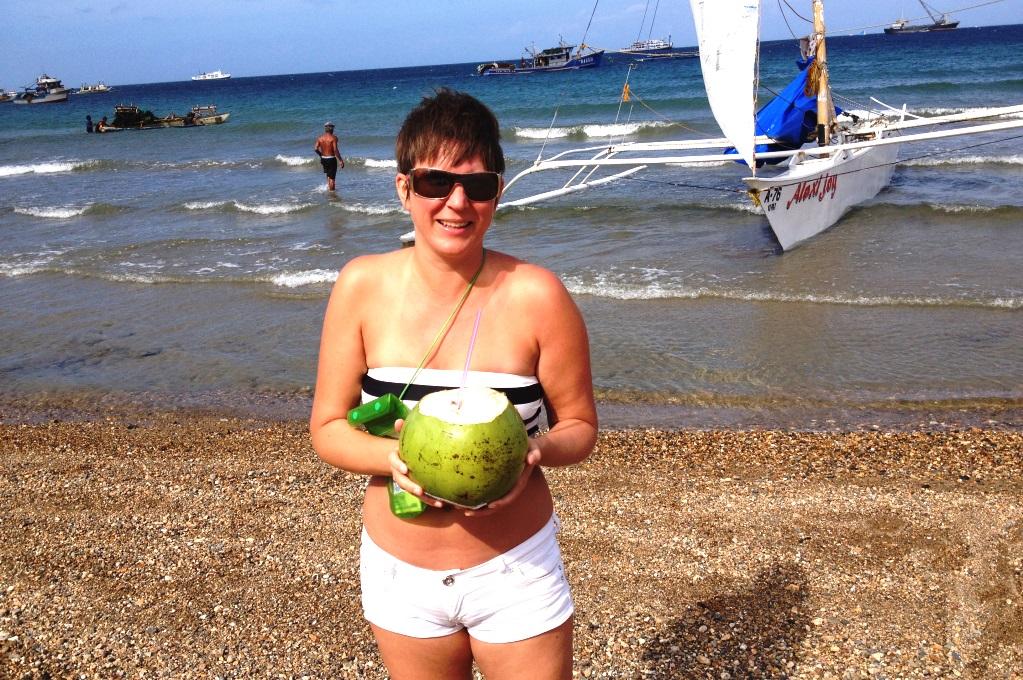 Segeltur med katamaran på Boracay