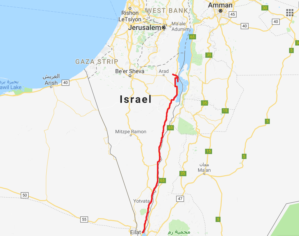Roadtrip Döda havet