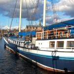 Bland skeppen på Skeppsholmen