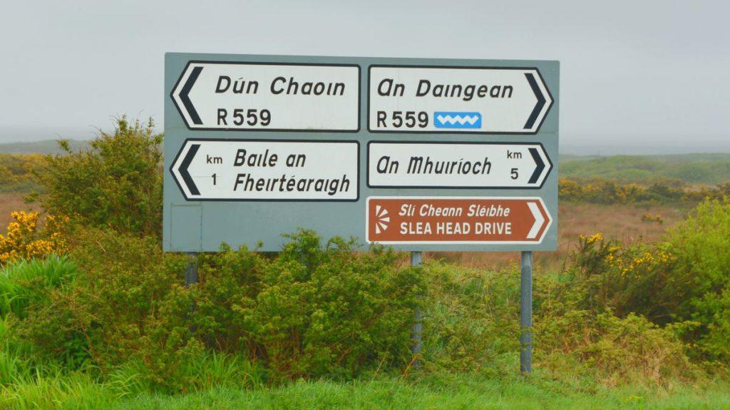 Fler skyltar med irländska ortnamn