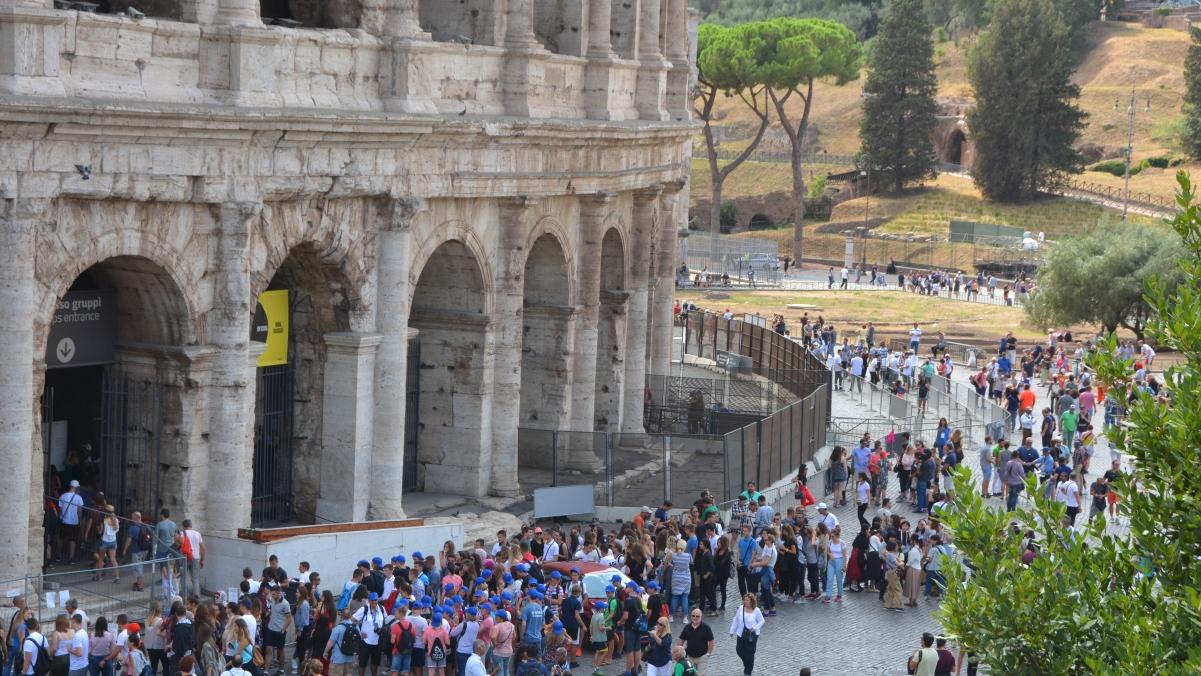Slipp köer vid Colosseum