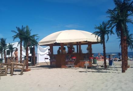 Beachen i Sopot, Polen (ja, palmerna är fejk...)