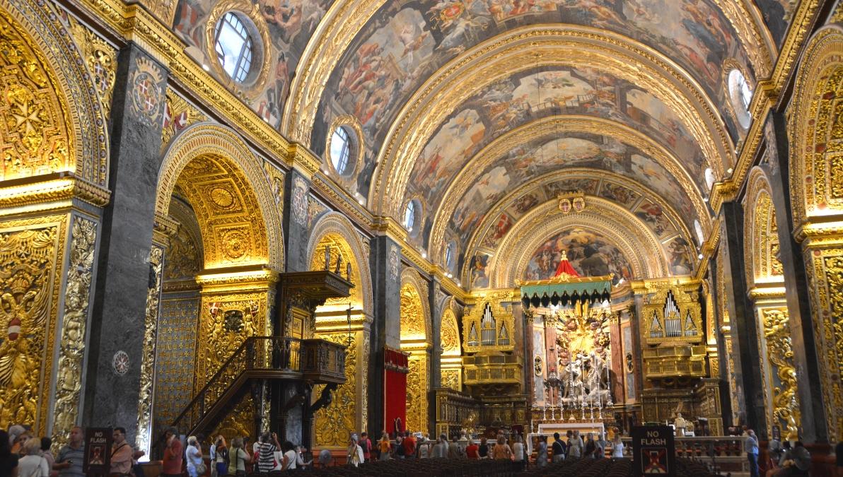 Att göra i Valletta: Besök St Johns Cathedral