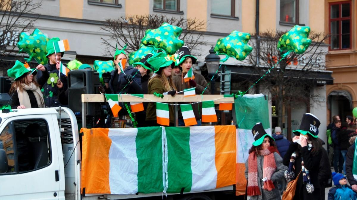Firandet av St Patrick's Day i Stockholm 2016