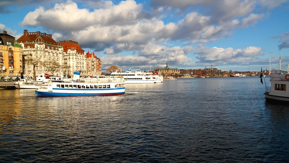 Stockholm igår - kallt men soligt