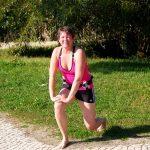 Jogging på stranden