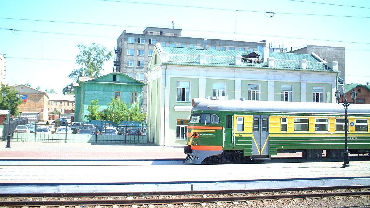 Tågstation Sibirien