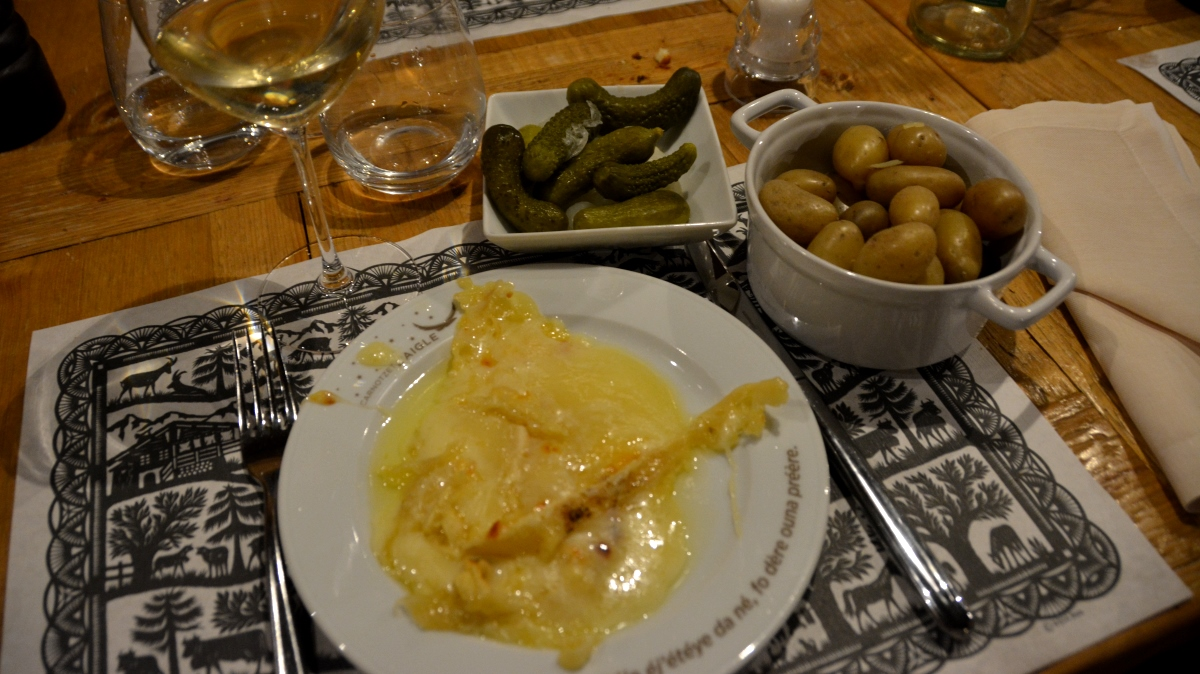 Traditionell raclette