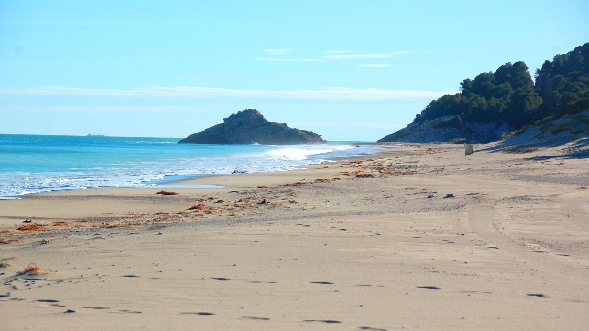 Vacker strand Spanien
