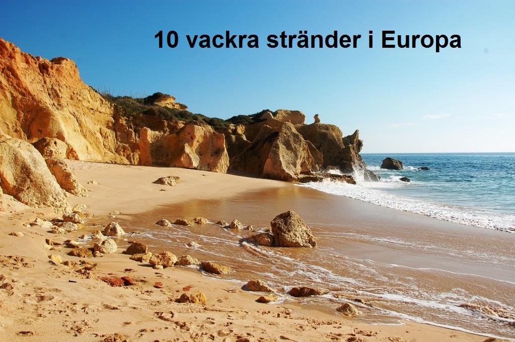 Vackra stränder i Europa