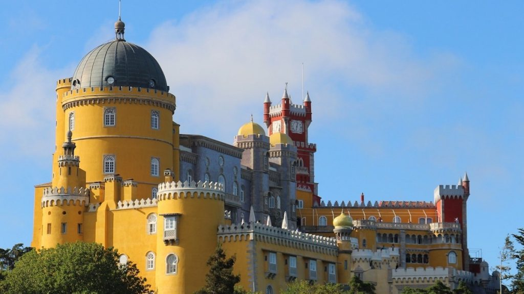 Slottet Sintra i Portugal