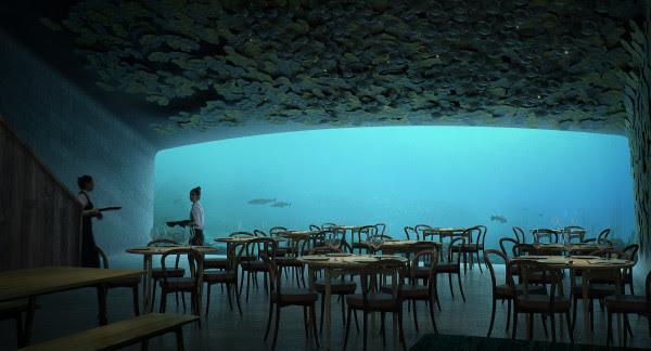 Snart öppnar världens största undervattensrestaurang i Norge