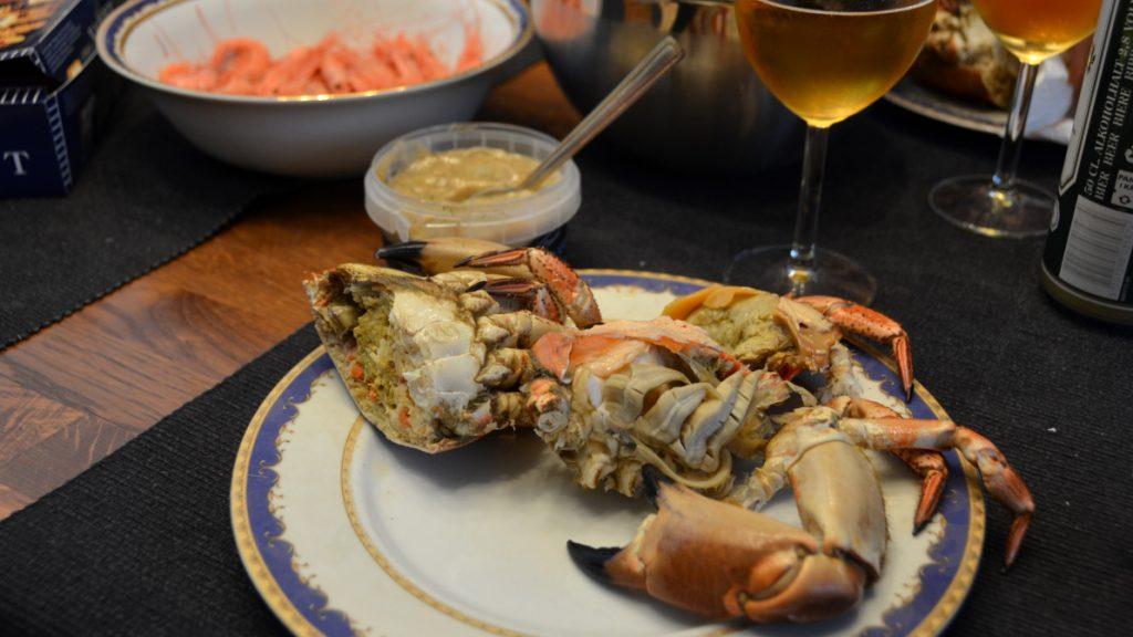 Äta krabba