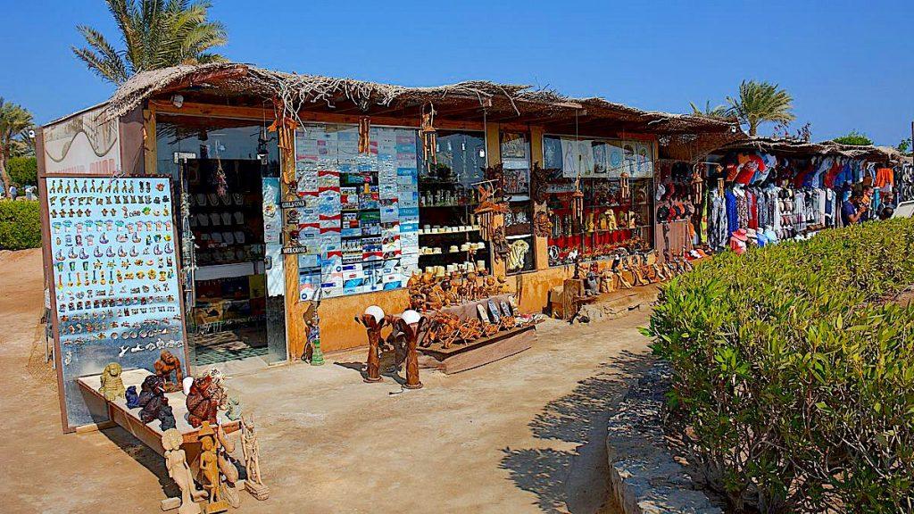Shopping på Zeytouna beach Island