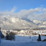 Härlig skidåkning i Alperna