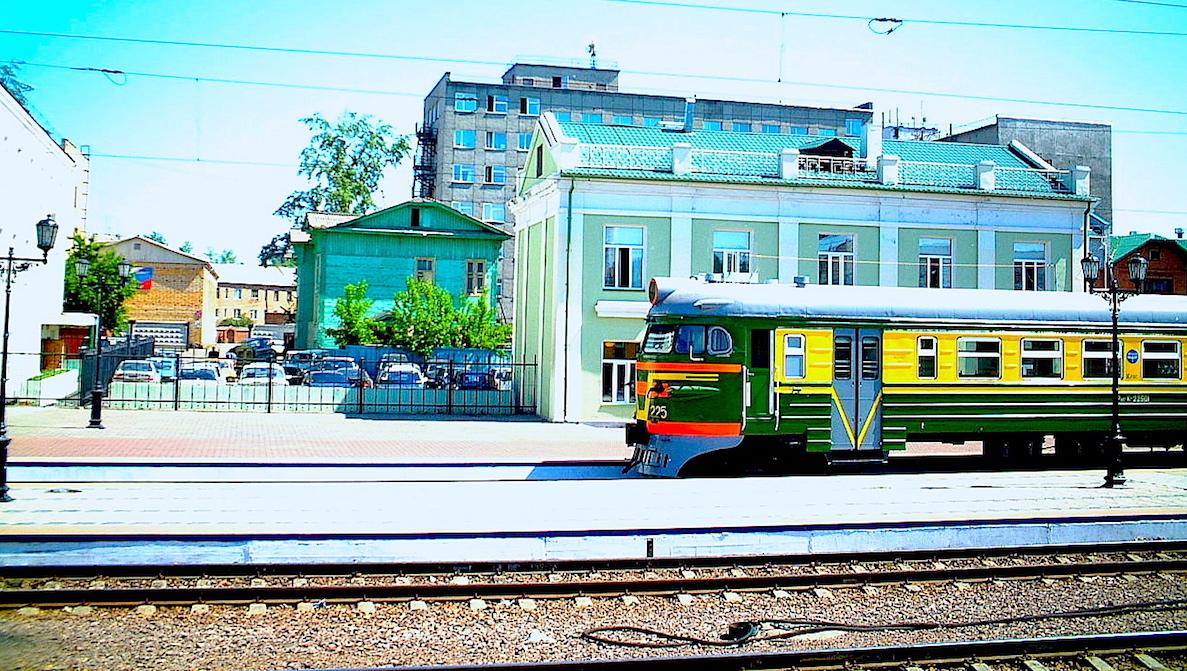Tågstation i Sibirien
