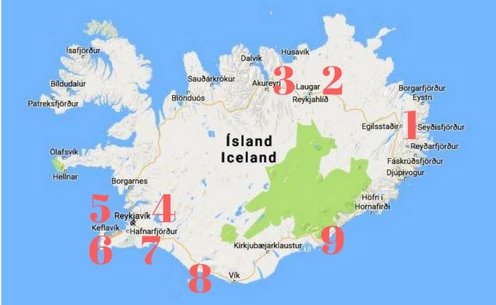 Island karta
