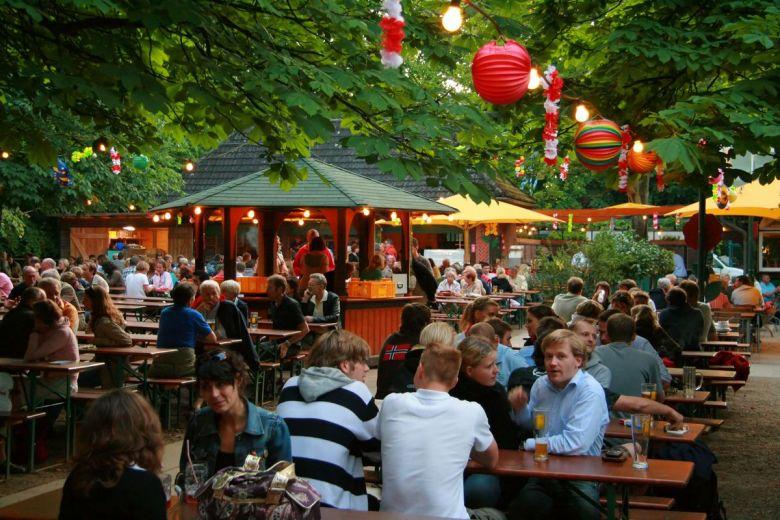 Öl i Tyskland - beergarden