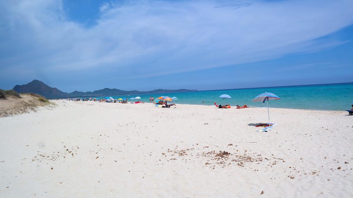 Stranden vid Costa del Rei, Sardinien