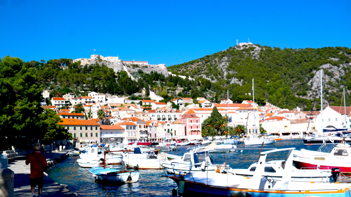 Staden Hvar i Kroatien