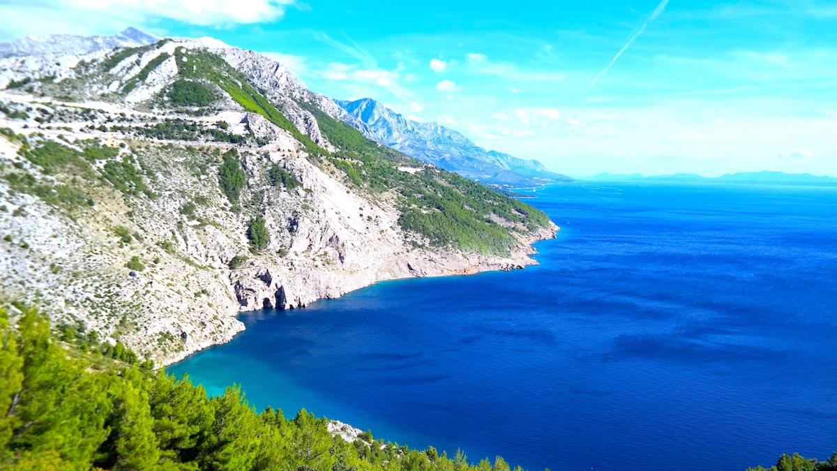Turiststaden Makarska - Rivieran i Kroatien