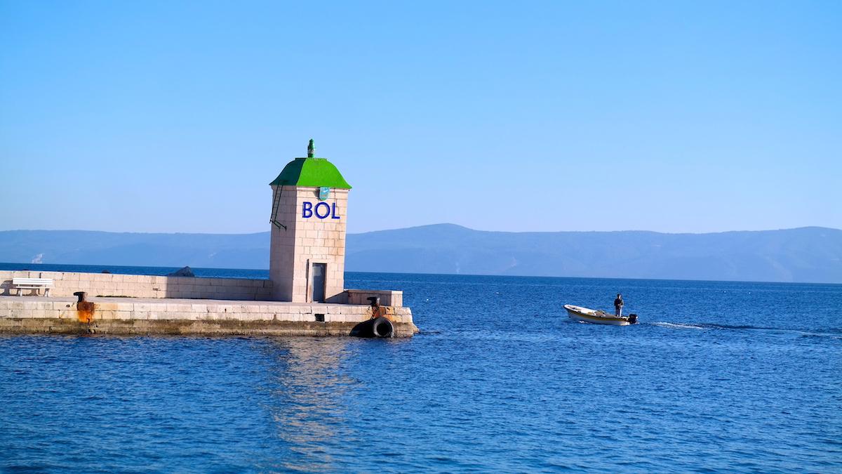 I Byn Bol på ön Brac I Kroatiens skärgård