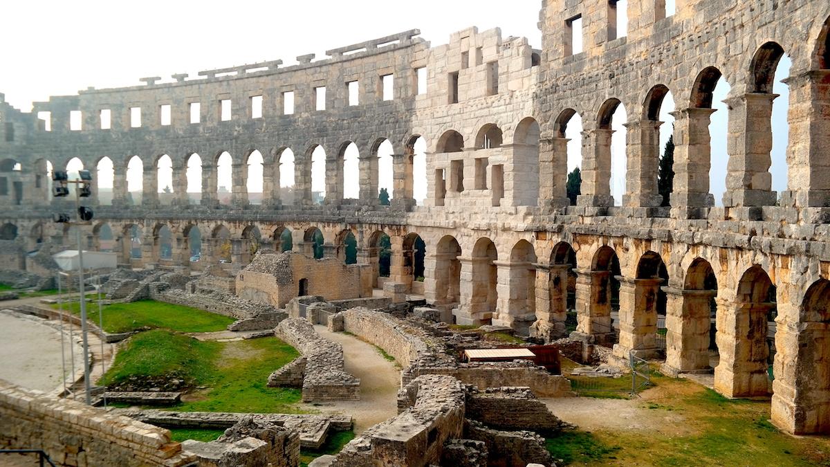 Pula i Kroatien - Arena för gladiatorer