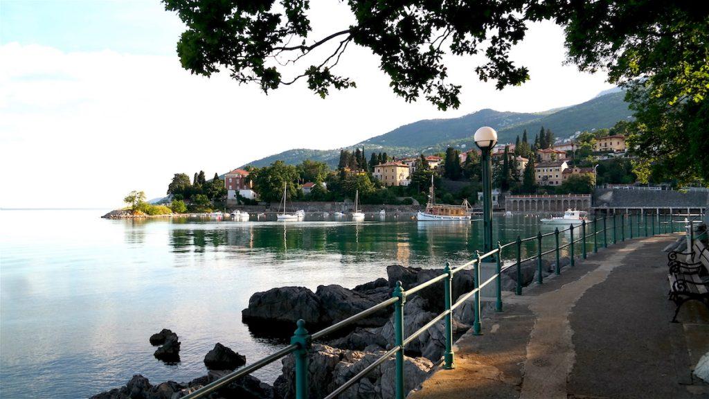 istriens riviera i Kroatien