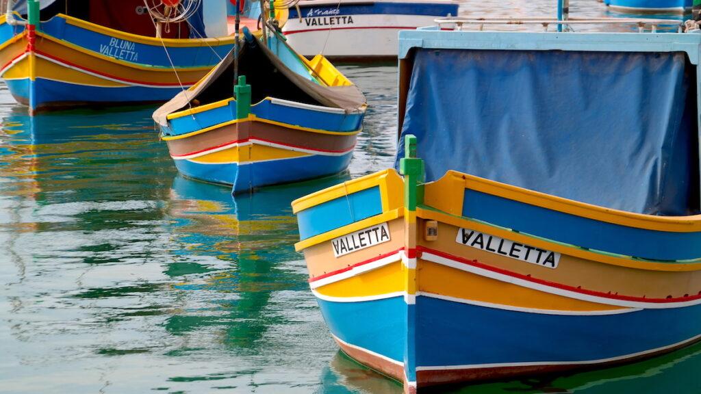 Luzzu - traditionell maltesisk fiskebåt