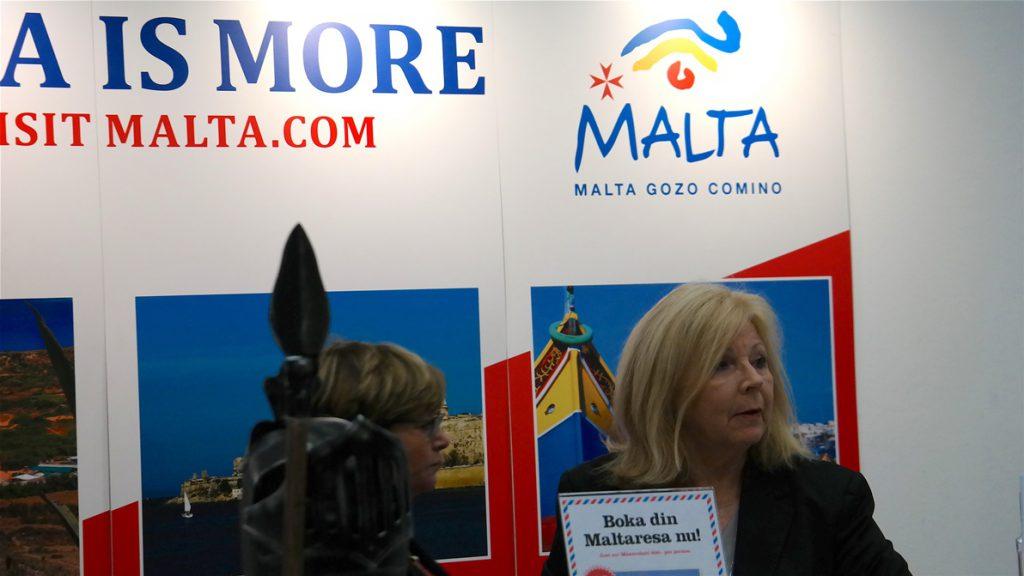 Patricia O'connell från Maltas Tourism Authority, som hjälpte oss med vår Malta-resa nyligen