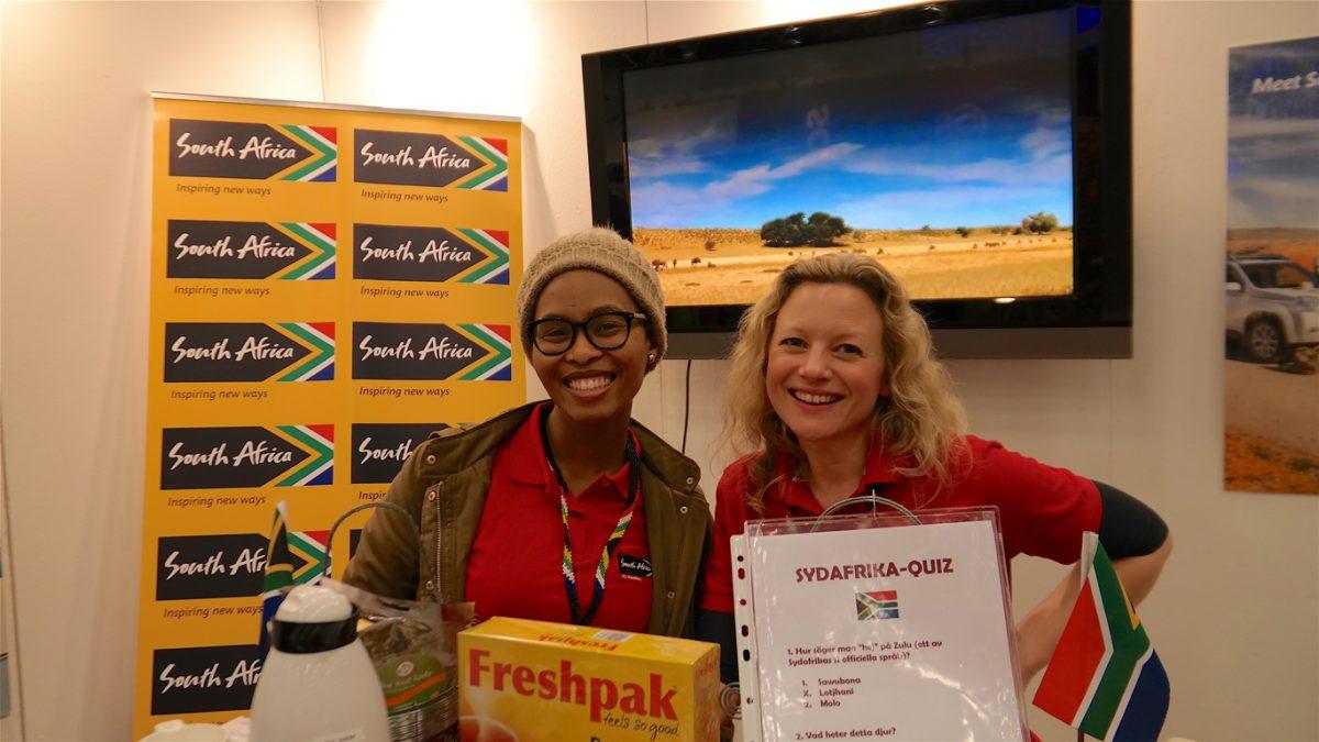 Två representanter för Sydafrika på Seniormässan i Älvsjö