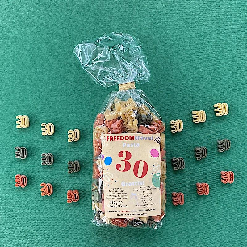 Motivpasta födelsedagar 30