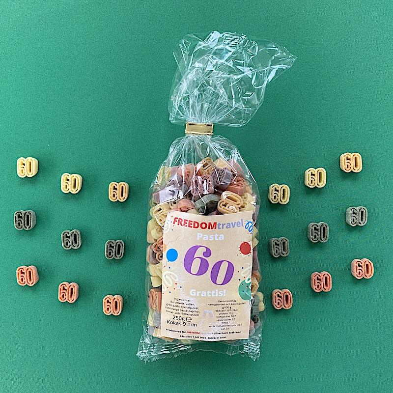 Motivpasta födelsedagar 60