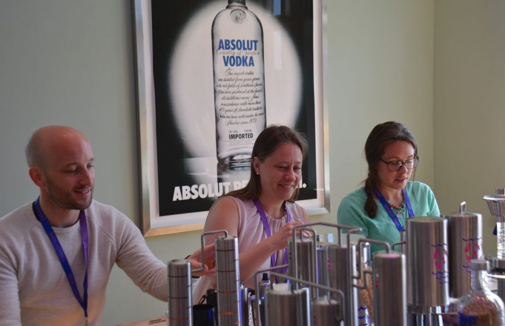 Absolut Vodka workshop i The Åhus villa