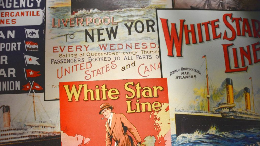 Affischer från Titanicmuseum