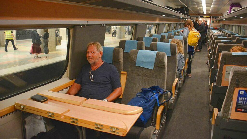 Bra att packa på tåget - en tågkupé