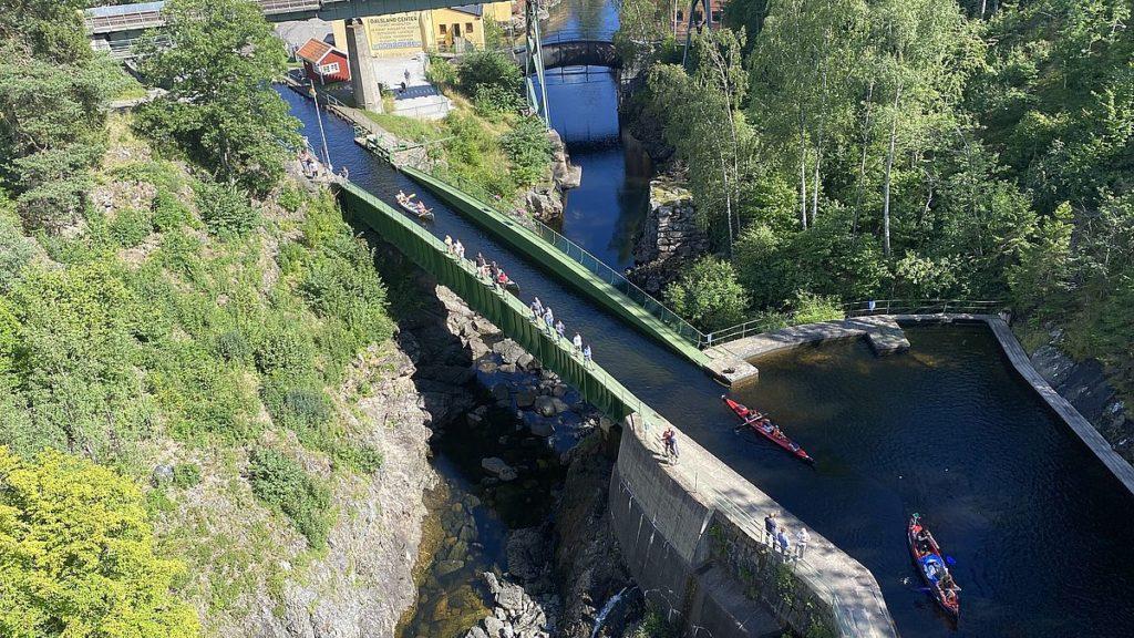 Akvedukten i Håverud sedd uppifrån
