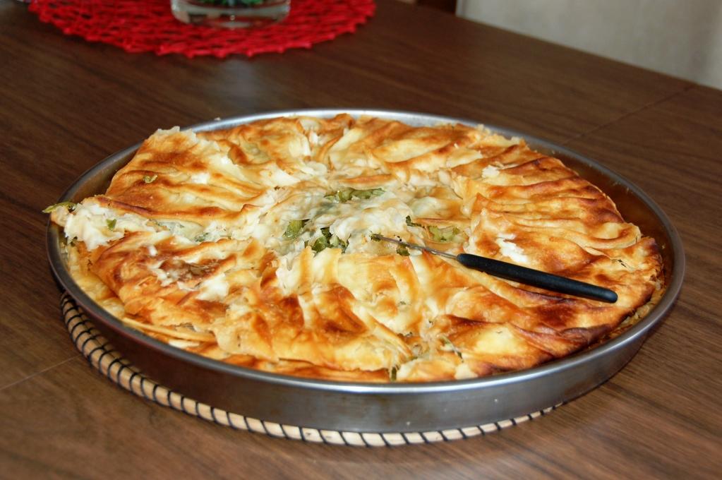 Albansk peta - traditionell frukostmat