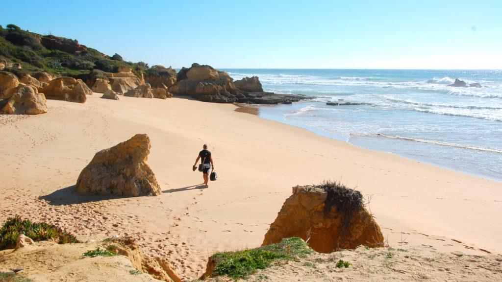 Galé vid Algarvekusten i Portugal