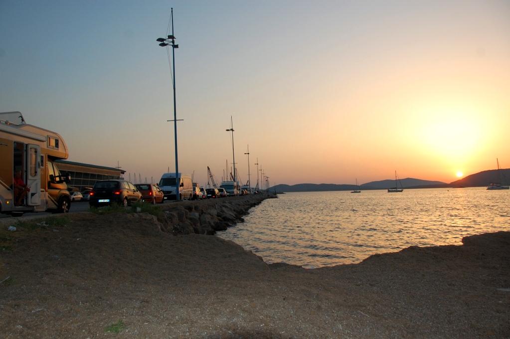 I Alghero stod vi parkerade i hamnen, tillsammans med flera andra husbilar