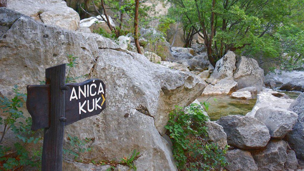 Anica Kuk i Paklenica nationalpark i Kroatien