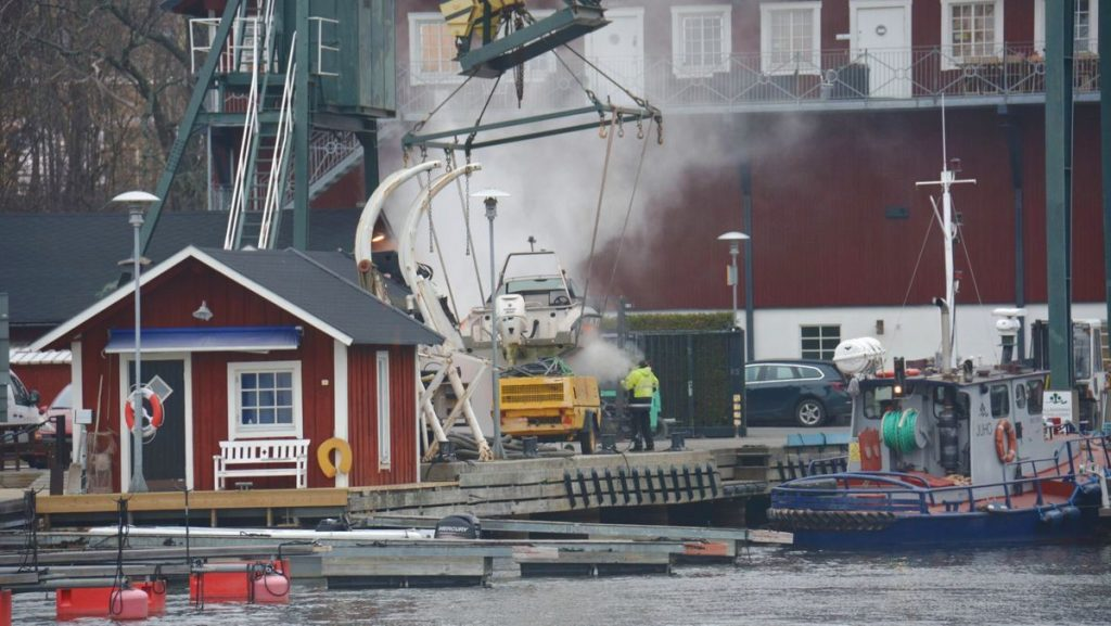 Arbete i marinan - husbåtsliv i november