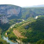 Med kanot i Ardeche i Frankrike – och Pont d'Arc
