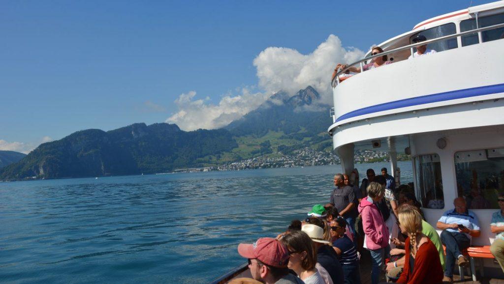 Båt på Luzernsjön